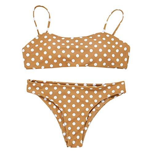 MRURIC Bikini Set Damen Push Up Bademode Strandbadebekleidung Mode Polka Dot Print Zweiteiler Badeanzug Gepolsterte BH Stilvolle Charmante Swimsuits Badebekleidung Beachwear -