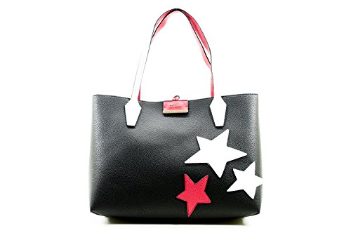 Guess Bobbi, Borsa a Spalla Donna, Multicolore (Black/Red), 13x28x48 cm (W x H x L)