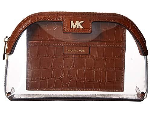 MICHAEL Michael Kors Da Donna grande custodia da viaggio in PVC e pelle Marrone Unica Taglia