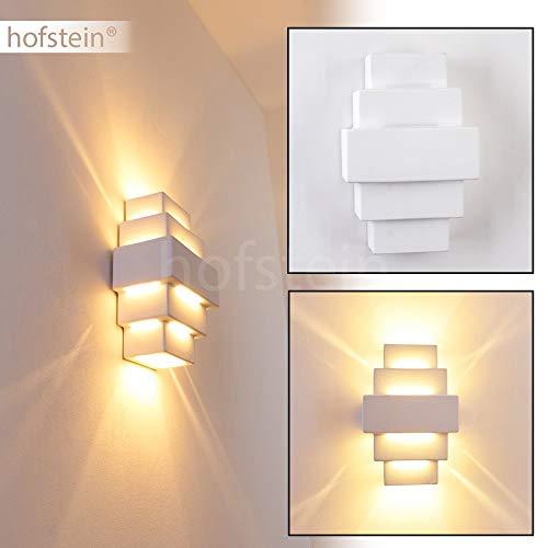 Wandlampe Tokio aus Keramik in Weiß, Wandleuchte mit Up & Down-Effekt, 1 x G9-Fassung max. 40 Watt, Innenwandleuchte mit handelsüblichen Farben bemalbar, geeignet für LED Leuchtmittel