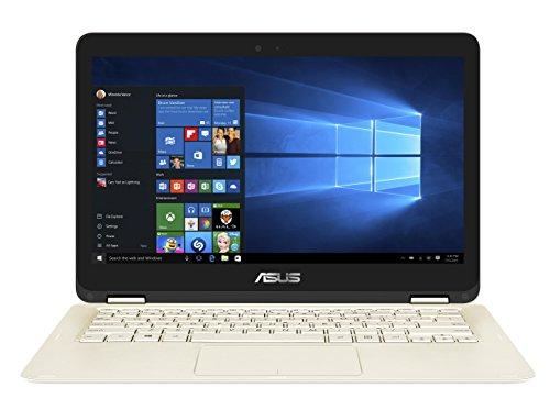 Asus Zenbook Flip UX360CA-DQ230T 33,7 cm (13,3 Zoll QHD+ Touch) Notebook (Intel Core i5-7Y54, 8GB Arbeitsspeicher, 256GB SSD Festplatte, Intel HD Grafik, Win 10) gold