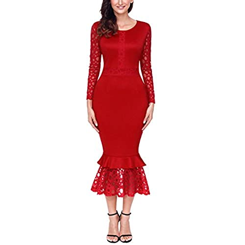 Women\'s Red Party Dress: Amazon.co.uk