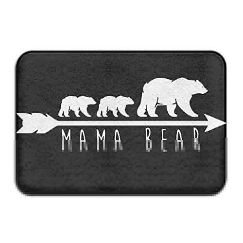 ghkfgkfgk Mama Bear Non-Slip Outside/Inside Door Mat Rug Health Wellness Kitchen Bathroom Doormat 23.6inchx 15.7inch