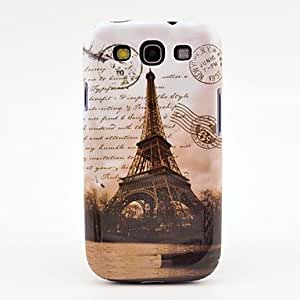 Famous Eiffel Tower with Letters Pattern Case Cover for Galaxy 3 I9300 in Multi-color