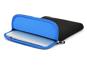 COOL BANANAS ShockProof Sleeve | Bag | Case with strong nylon and memory-foam-effect for best protection | perfectly fitted for Apple MacBook Air 11 inch | Color blue