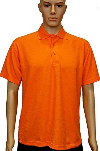 Uneek UC101 Polo piqué polyester/coton unisexe classique, avec col en tricot et finition manches ourlées. Orange - Orange