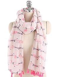 Amazon.fr   flamant rose - Echarpes   Echarpes et foulards   Vêtements 6c42f59bd3b