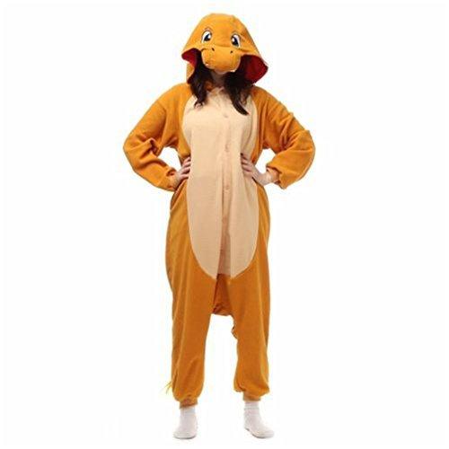 UK Halloween Hot Ausverkauf Pokemon Unisex Erwachsene Schlafanzüge Cosplay Kostüm Tier Einteiler Charmander L