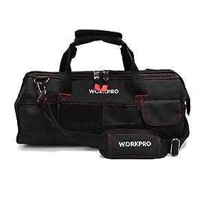 WORKPRO W081020AU – Bolsa de herramientas compacto con boca ancha arriba de 30 cm