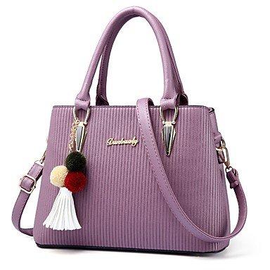 Damenmode PU Leder Schulter Messenger Crossbody-tasche/Handtasche Tote Purple