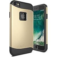 Cover iPhone 7, Snugg Apple iPhone 7 Custodia Case [Scudo Sottile] Protettiva Per Pelle – Oro, Infinity Series