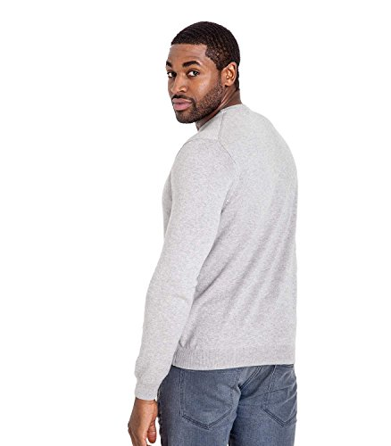 WoolOvers Pull à col rond - Homme - Cachemire & coton Grey Marl