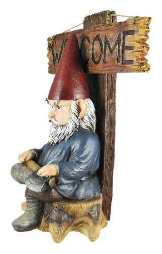 Go Away Garden Gnome un-welcome Garten Statue - 2