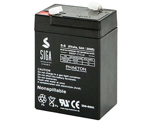 SIGA S5-6 Batterie 6 V/5 mAh