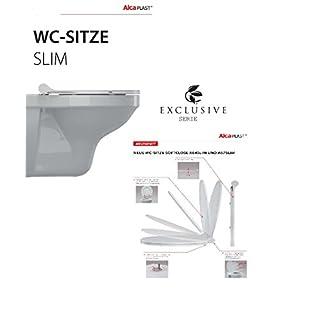 Hochwertiger Exclusiver Hochwertiger WC SITZ-WC Deckel-TOILETTENSTITZ-ALCA-SERIE :SLIM LINE-SOFT CLOSE-ABSENKAUTOMATIK-AWARD 2016-Aqua-Badshop®