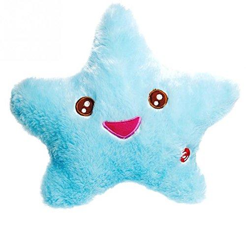 Feichen Lindo Cojín Con Luz Cojín con Diseño de Estrella Color Azul