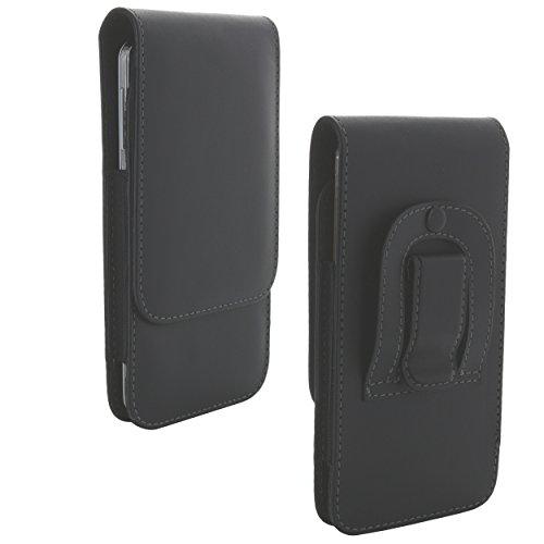 Handy Gürteltasche mit Stahlclip 4XL 3.2 / Tasche passend für Huawei Mate 10 Lite 20 Pro/Honor 9/10 Lite/P Smart 2019 - Handytasche schwarz