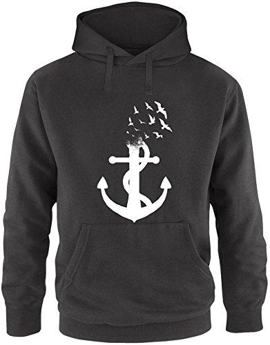 EZYshirt® Anker Ocean Herren Hoodie | Herren Kapuzenpullover | Herren Pullover (Body Flex Bar)