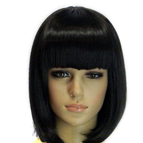 Vococal® Les Bangs Soignées Courts Dames BOB Cosplay Perruque de Cheveux Extensions Pour Mascarade Halloween Noël