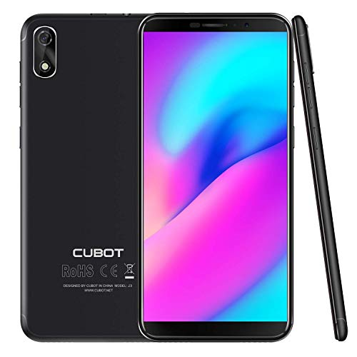 Cubot J3 Dual-SIM Smartphone ohne Vertrag,5 Zoll (18:9) Full-Wide VGA TN Touch-Display,16GB interner Speicher, Android 8.1 Oreo(Go Edition) Handy, Face ID, GPS/A-GPS (Schwarz)