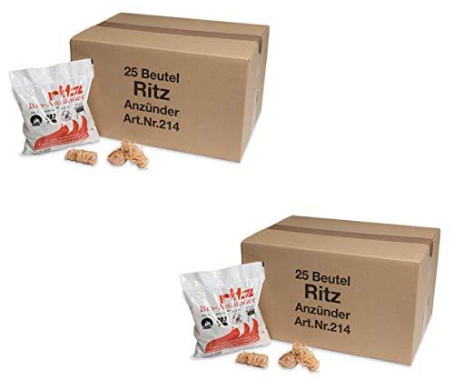 Ritz Bio Anzünder - Kamin- und Grillanzünder für Holz & Kohle (650 Anzünder) -