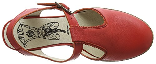 Sandalen Rot scarlet Heel 002 Chunky Damen London Cade004fly FLY f0qXHpH