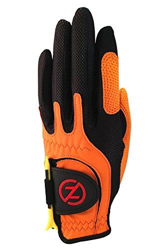 Zero Friction Null Reibung Junior Compression-fit Synthetik Golf Handschuhe, Universal Fit One Size, Jungen, Orange, ()