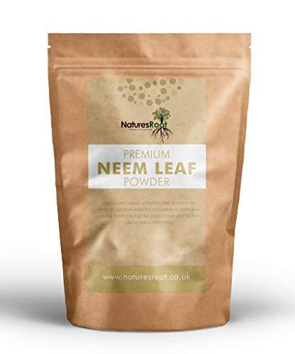 natures root polvere naturale di foglie di neem (azadirachta indica) - erbe ayurvediche per pelle, capelli e sangue