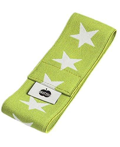 Brotzeit- Band Stretchband Lunchbox Brotdose mit Sternen, Grün