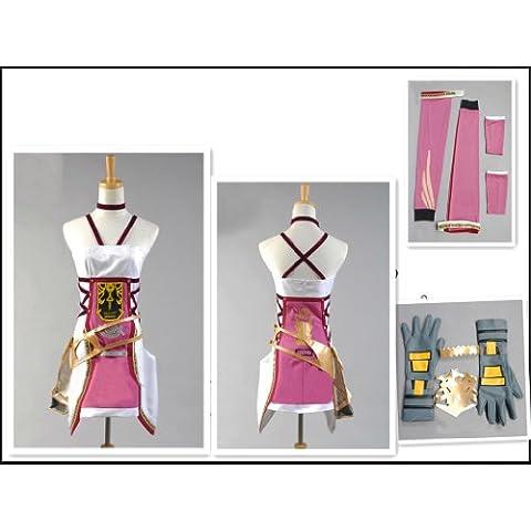 Final Fantasy 13 Serah·Farron cosplay costume, Taglia L: altezza 165cm- 170cm(Pleae scrivici la tua taglia, (Costumi Final Fantasy Cosplay)