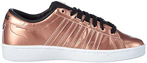 K-Swiss Hoke Metallic Cmf S, Baskets Basses femme Rose - Pink (RSEGLD/BLK/WHT 285)