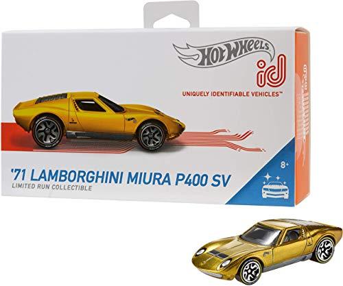 Mattel - Hot Wheels ID Vehículo de juguete, coche Lamborghini Miura , +8 años  ( FXB06)