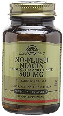 Solgar 500 mg No Flush Niacin Vegetable Capsules - Pack of 50 by Solgar