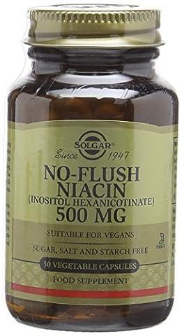 Solgar 500 mg No Flush Niacin Vegetable Capsules - 50 Capsules
