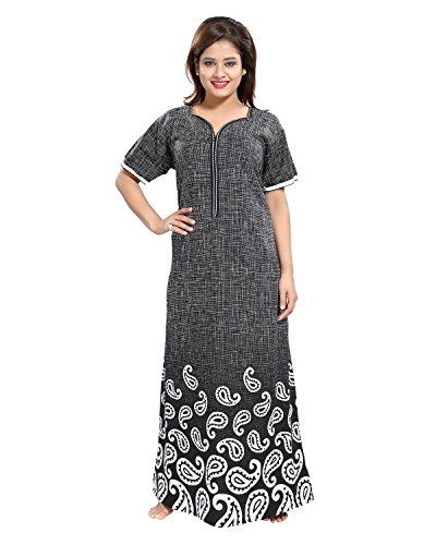 Tucute Cotton Nighty / Night gown / Nightwear / Nightdress Botty Print with 16\