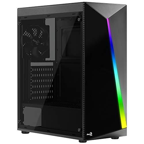 Aerocool SHARD - PC-Gehäuse, ATX, Acrylglasscheibe, RGB 13 Modi, Lüfter 12cm -
