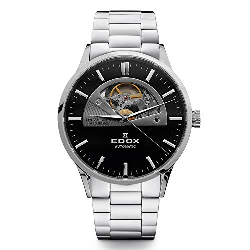 Edox Men's Les Vauberts Open Heart 43mm Automatic Analog Watch 85014 3M NIN