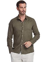 ae207f9ae48c Suchergebnis auf Amazon.de für  khaki hemd herren - Leinen  Bekleidung