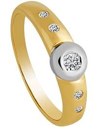 Diamond Line Damen - Ring 585er Gold 5 Diamanten ca. 0,15 ct., gelbgold