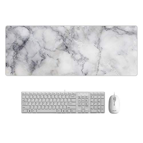 zfq Creative Marble Color Table Pad Oversized Maus-Tastatur-pad Einfache Office Farbe Tabelle Mat 900 * 400 * 4mm Edge Locking Granit -