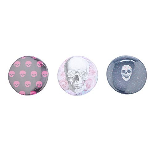 LUX accesorios rosa blanco azul Punk Rock calaveras Pin Set...