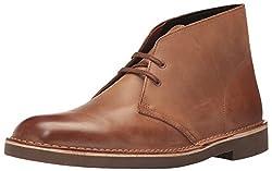 Clarks Mens Bushacre 2 Chukka Boot Dark Tan Leather 7.5 D(M) US