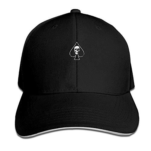 LUXNG Snapback Cap Ace of Pik Skull Heavy Metal Rock Herren Baseball Caps Unisex Sportswear Sandwich Peak Cap