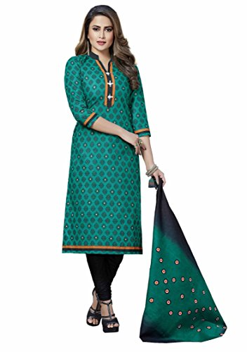 Miraan Printed Unstitched Cotton Dress Material And Churidar Suit For Women (N8005)