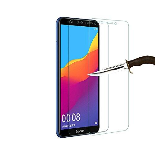 THILIVE Huawei Honor 7C Panzerglas, 2.5D GlassGuard Glasfolie,9H Härte,Kratzfest,Glasfolie Glas Schutzfolie für Huawei Honor 7C/Honor Y7 2018/Honor Y7 Prime 2018/Enjoy 8(2 Stück)-klare