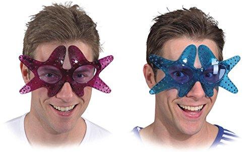 Lila Kostüm Tintenfisch - Orlob Brille Seestern zum Neptun oder Nixe Kostüm Karneval Fasching lila