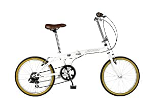 Viking Avenue 6 SPD Hiten 20 Inch Folder Folding Bike - White, 13 Inch