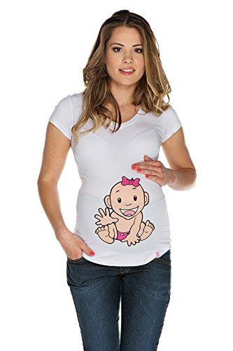 My Tummy Umstands-Shirt Mutterschafts-Shirt Mädchen Baby Geschenk für Töchterchen BabyM (medium) (Mädchen Realität T-shirt)