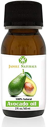 Jadole Naturals Avocado Oil For Face Body And Hair 60 ml, Pack of 1