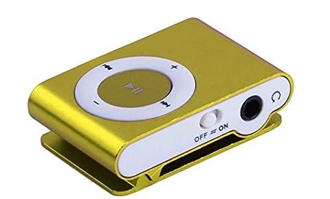 MOKE SD TF USB Support Mini Métal MP3 Support Micro jusqu'à carte 16GB Media Player Musique aléatoire pour Sports & Courir (NO SD Card) (vert)